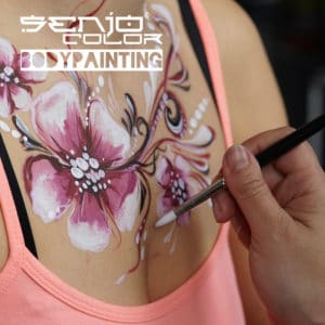 Senjo Color Bodypainting with Brush