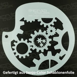 Gearwheel Stencil cutted from Stencil Sheet Senjo Color