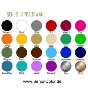 Colour chart BASIC Bodypainting Color Senjo Color