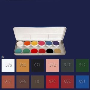 Aquacolor Palette 12Colours B Kryolan