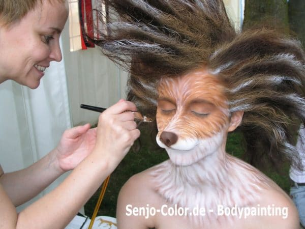 Fuchs Facepainting mit Senjo Color