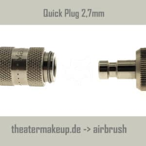 Airbrush plug and clutch 2.7mm